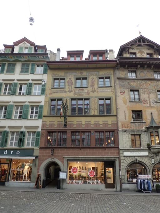 Front of the historic building zur Metzgern