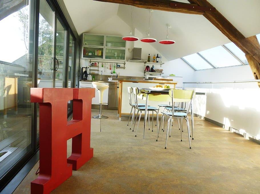 Superbe loft de 150 m2 4 chambres lofts louer fontainebleau le de fr - Achat loft ile de france ...