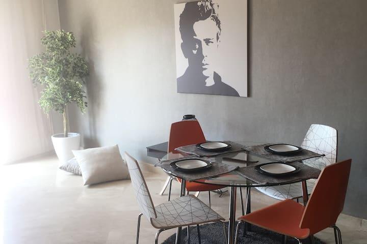 Luxury apartment center of casablanca with terrace