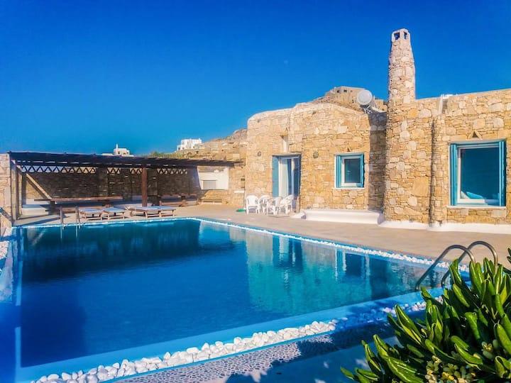 Villa Boufla Jacuzzi (Apartment 4 for 8 guests)