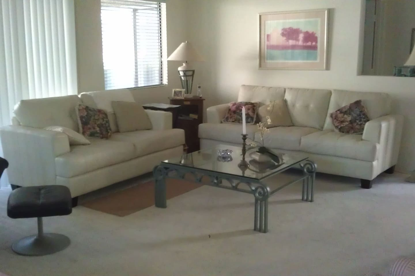 Leather Couch and Love Seat.