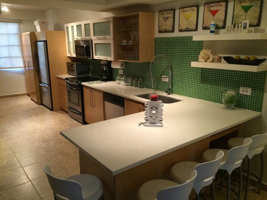 Spacious Fully Equipped Stainless Steel Kitchen