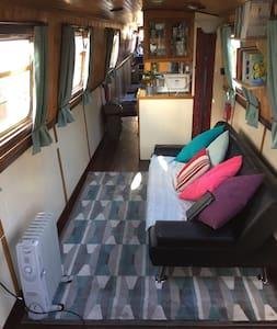 Beautiful narrow boat,Poplar marina - Londra