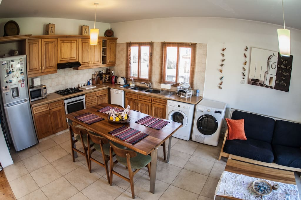 Fully equipped kitchen & double sofa bed