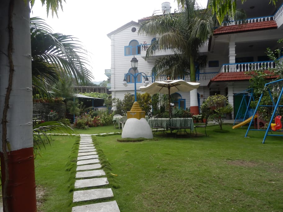 Award Wining Garden Of Glacier Hotel Pokhara