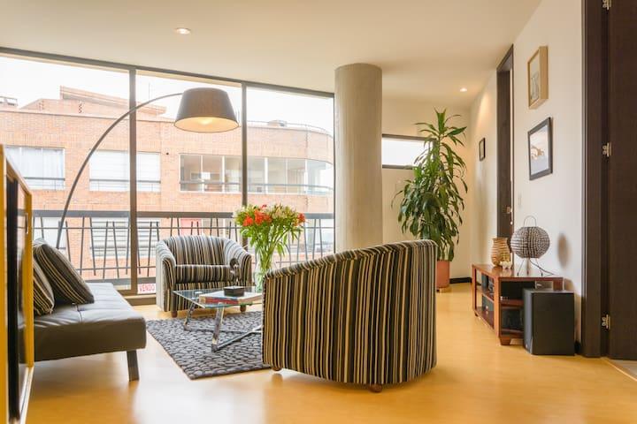 Brand New 1BR Apt Chapinero Alto - (Wi-Fi) - Bogotá - Apartment
