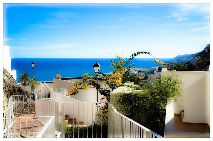 A great balcony to the Med Sea.  - Ventanicas-el Cantal - Apartamento