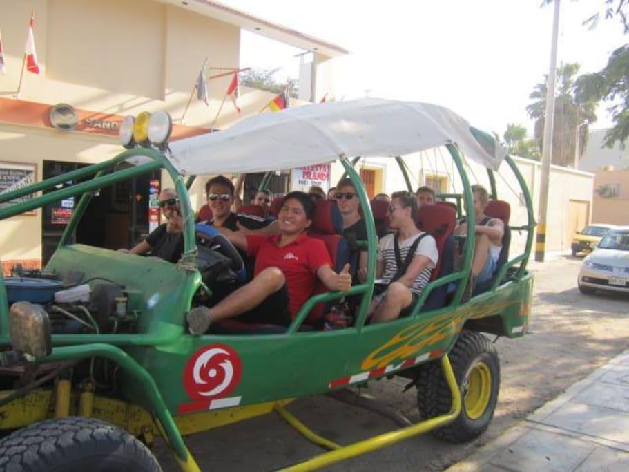 Buggy, sandboard visit oasis huacachina