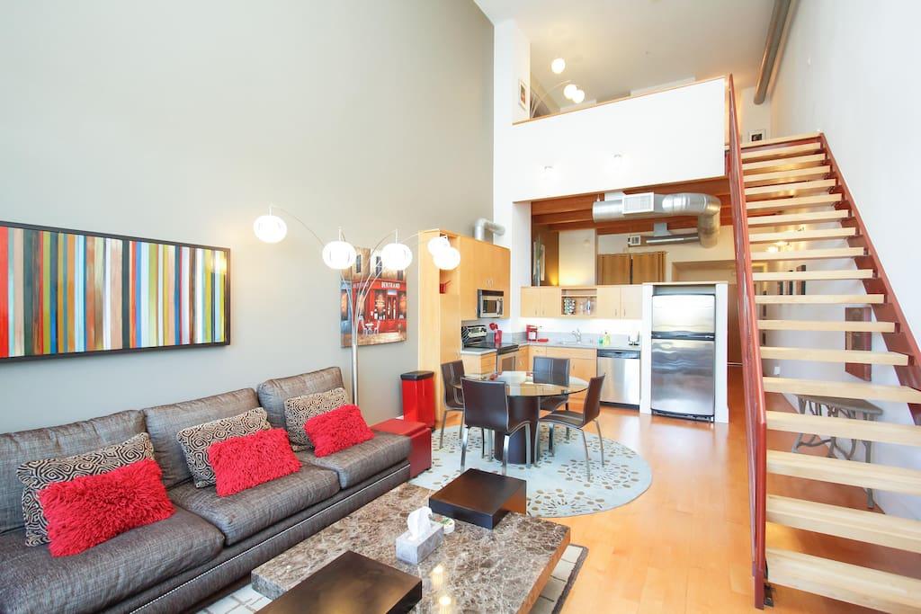 Santana Row Modern And Contemporary Loft Silicon V Lofts For Rent In San Jo