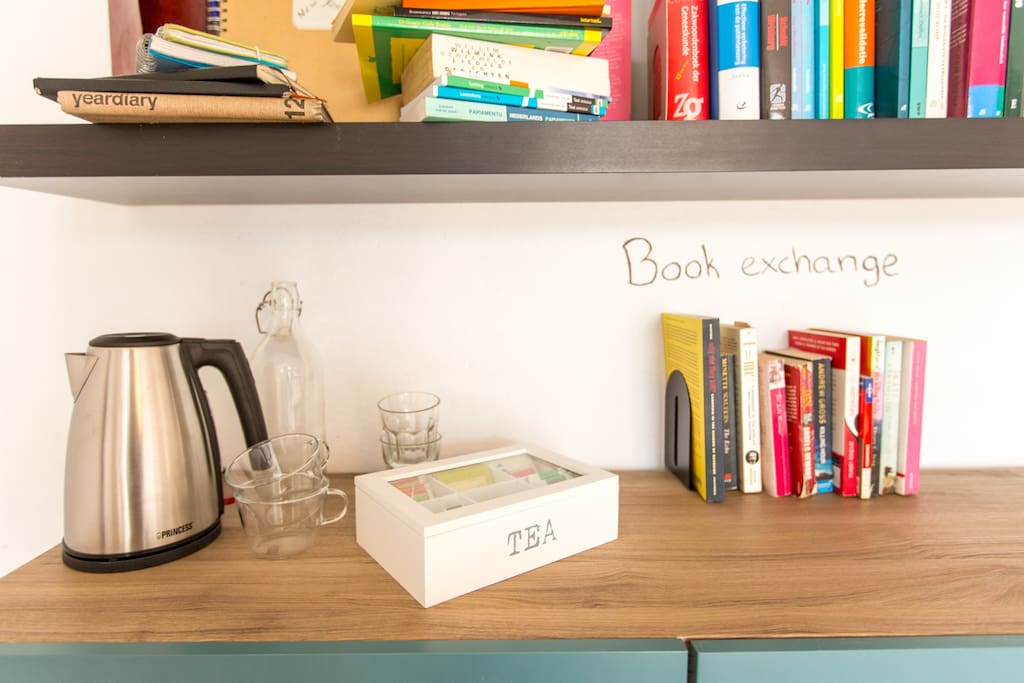 Book exchange and facilities in your room