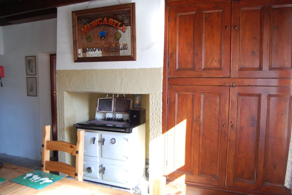 Dining room with Rayburn cooker