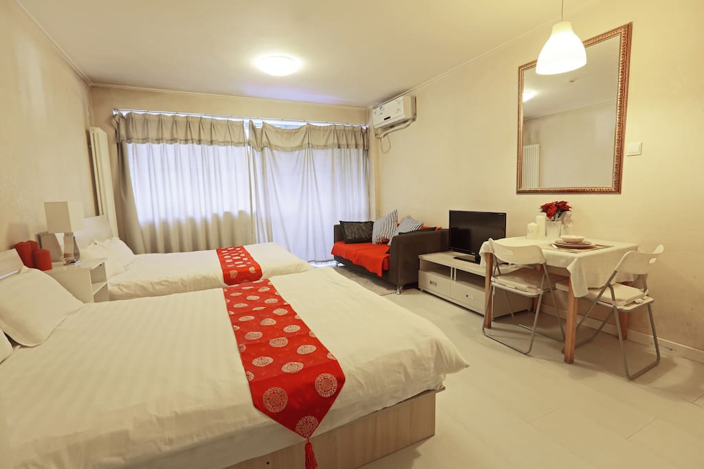 sleep 4 studio near airport express apartments for rent in beijing beijing china. Black Bedroom Furniture Sets. Home Design Ideas