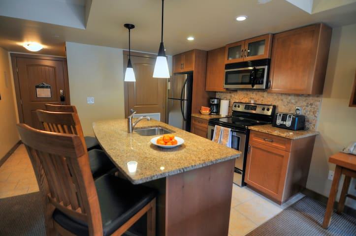 Kitchen with all the comforts of home