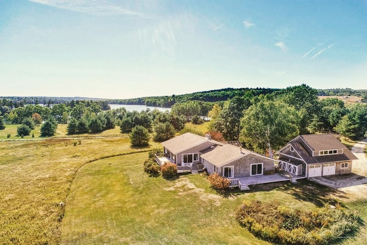 10 Acres of Waterfront + a Charming, Spacious Home