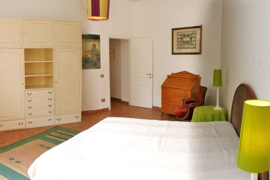 the Main bedroom is very big and we can put an additional double bed