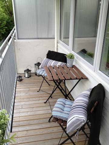 Studio apartment with balcony in Ski centre