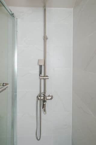Premium shower with powerful water pressure.