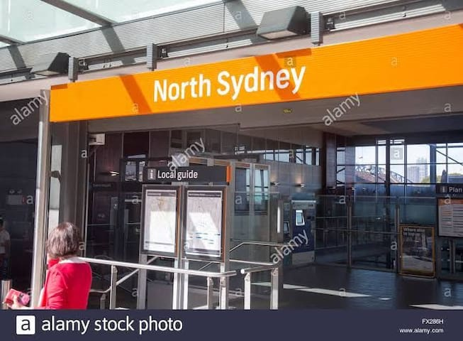 North Sydney Train station 3 minutes walk up the road