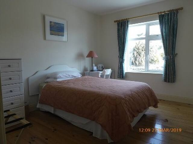 Room 4 combines with Room 3 - shares bathroom - faces hillside - ideal for twin beds / group of 3. Not otherwise used.