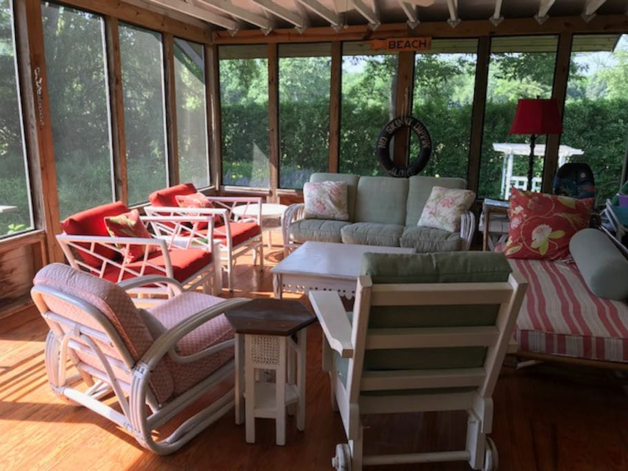 Guests just love the screened porch
