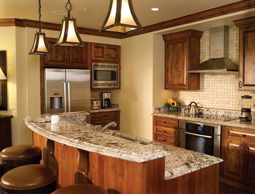 Take a seat at the breakfast bar or cook up a storm in the kitchen.