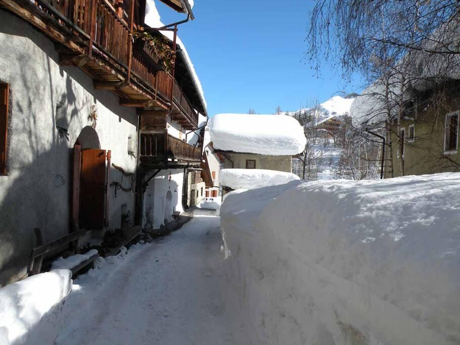 esterno in inverno