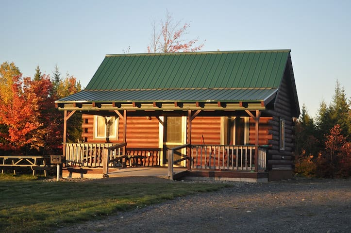 2. Large log cabin  with pond view