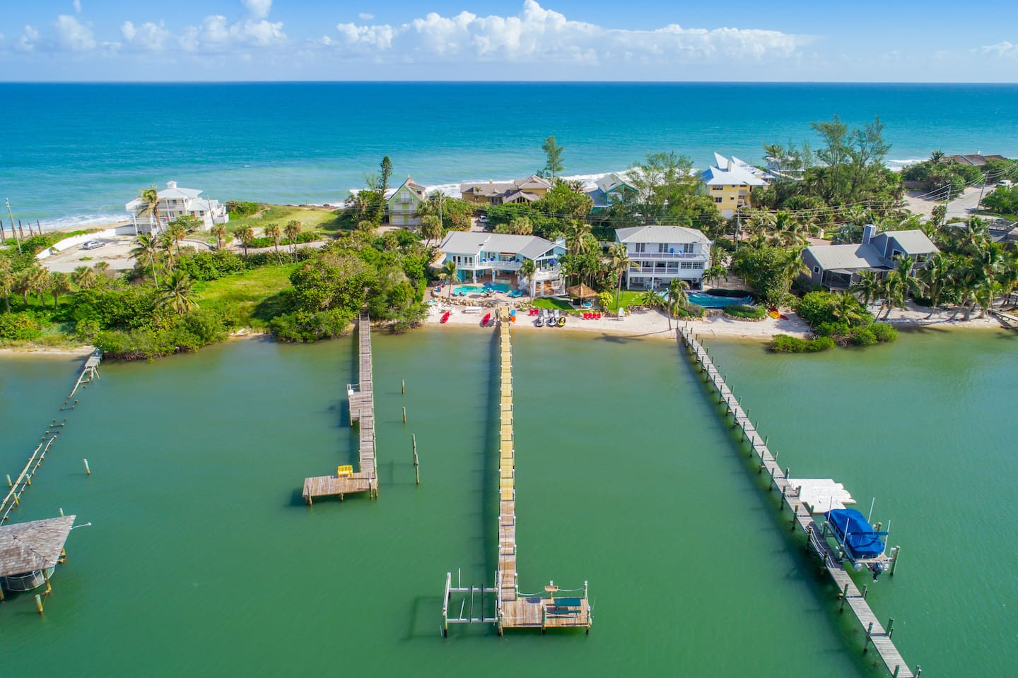 Your own private dock into the most biologically diverse estuary in all of North America.  Surrounding your dock is more more than 4000 species of marine and aquatic life.  (Source:  Florida Oceanographic Institute)