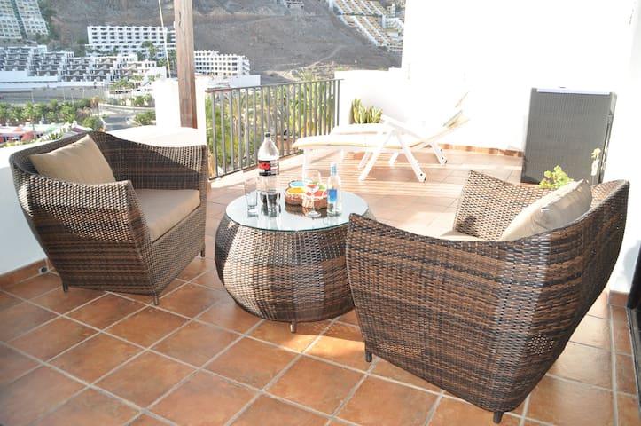 Apartamento 80 m con vistas al mar - Playa del cura  Mogan - Flat