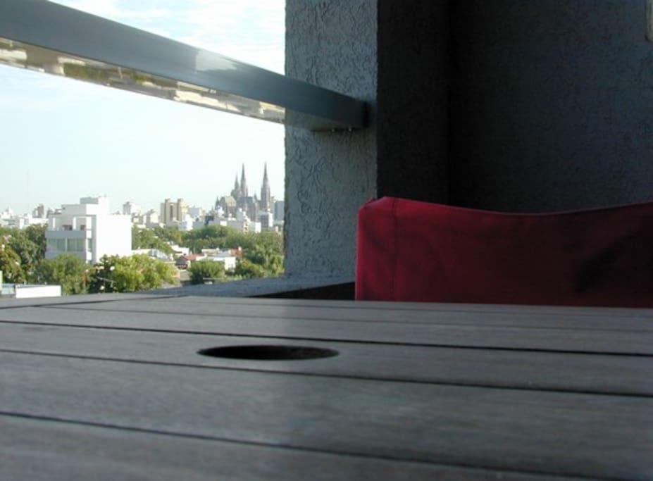 Amplia vista desde un 4to. piso