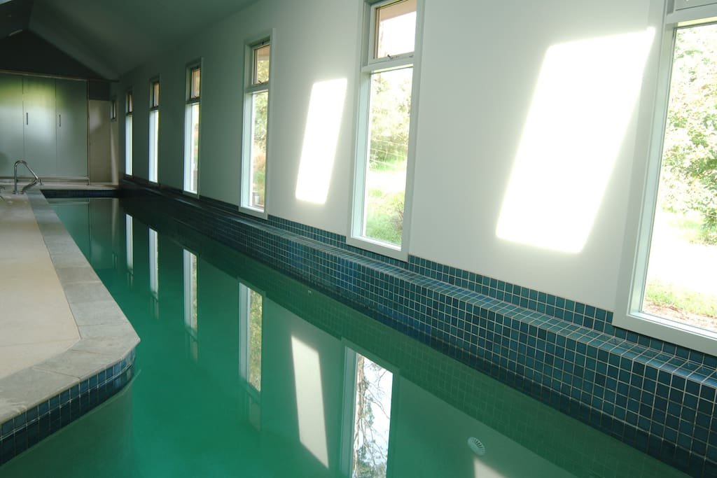 Indoor heated pool for guest exclusive use
