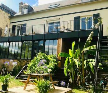 Grande Maison en bord de Seine, ♥️ 1h 15de Paris