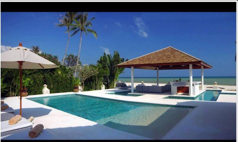 Beautiful beachfront villa with staff - Ko Samui - House