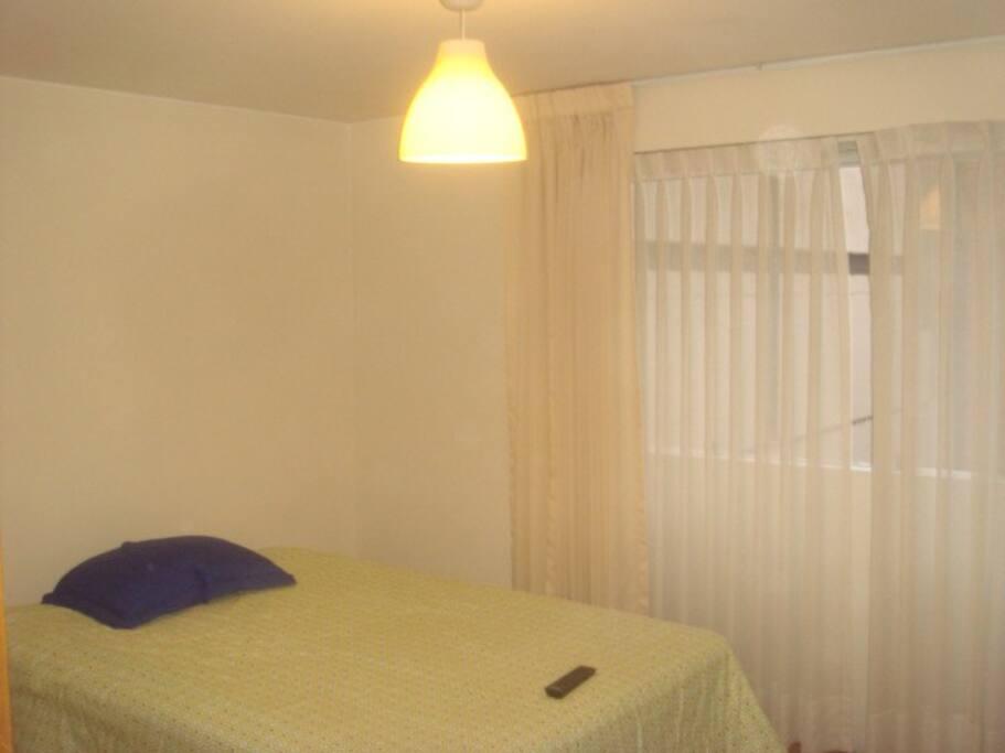 amplio dormitorio con cama diván(2 personas).