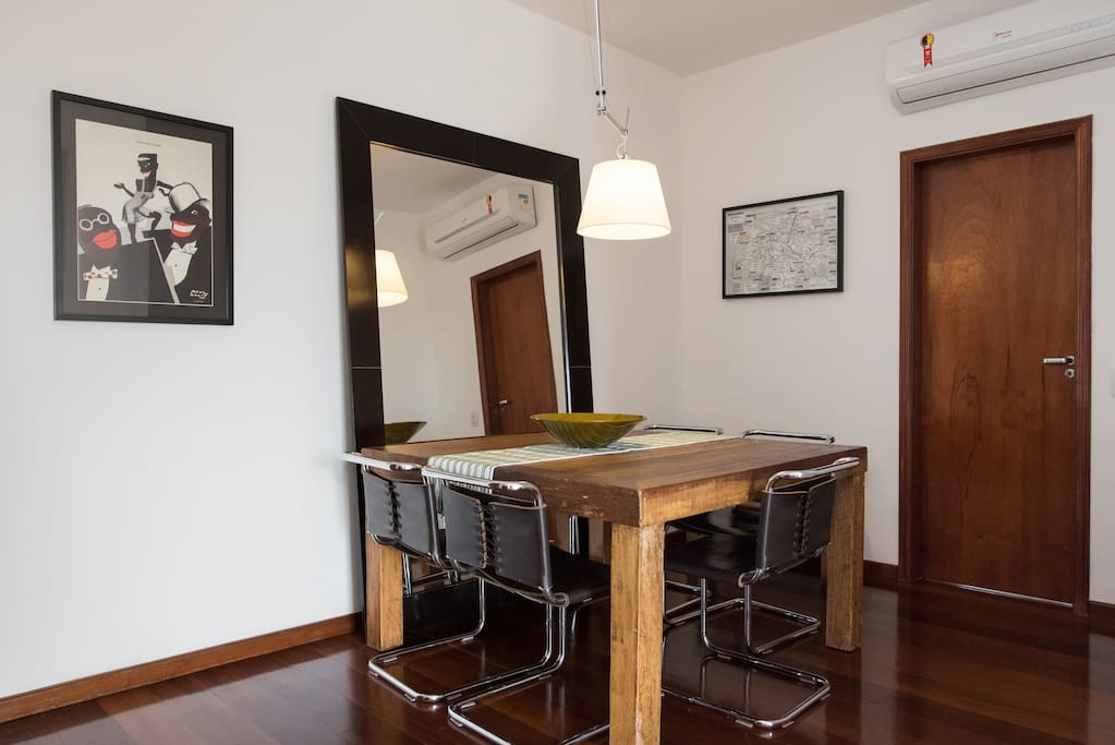 Dining room with air conditioning