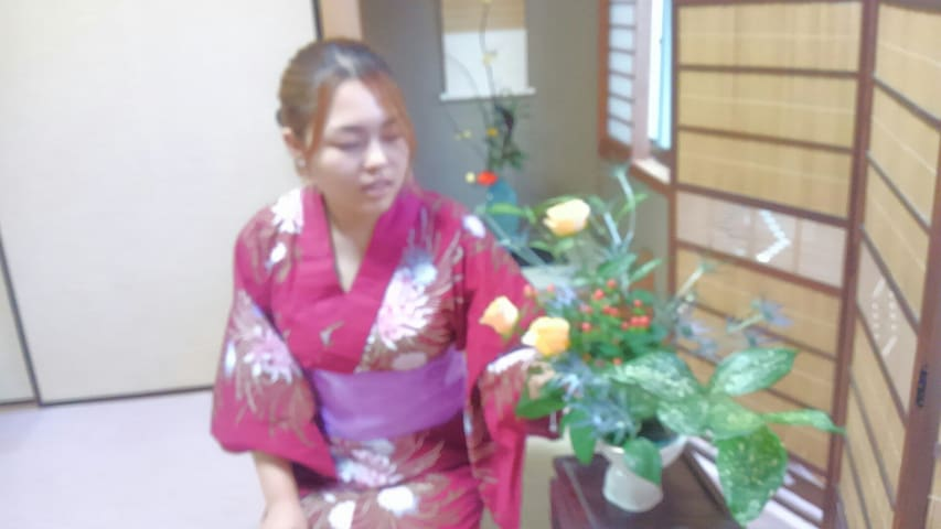 If you want it, I can take you to the class of Ikebana
