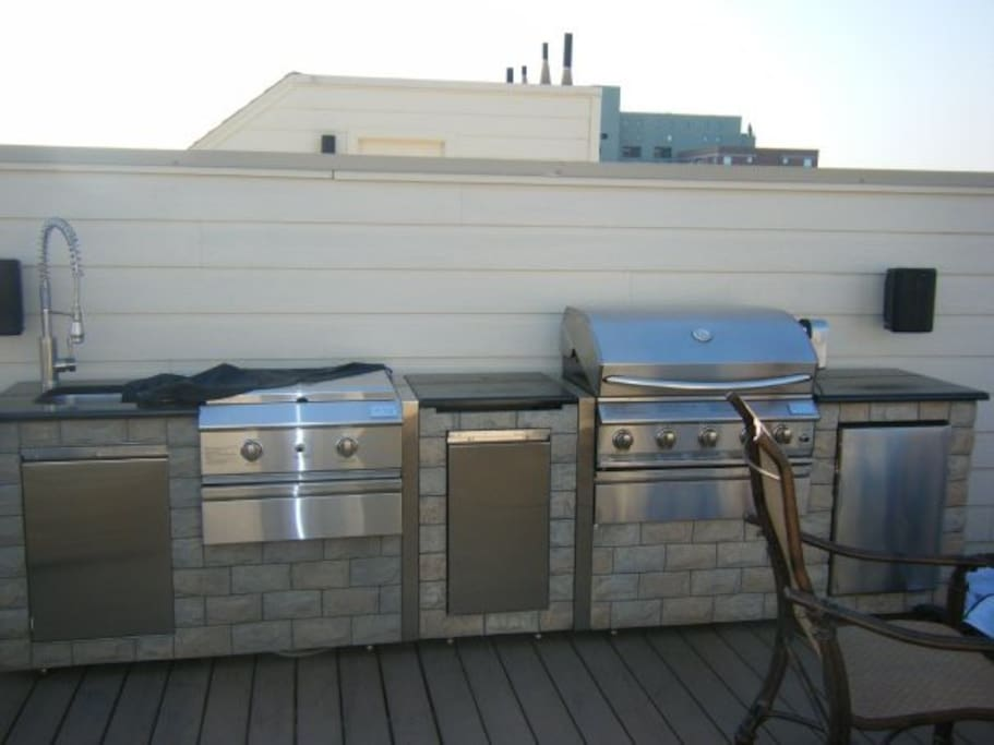 Rooftop kitchen.   Private to my unit