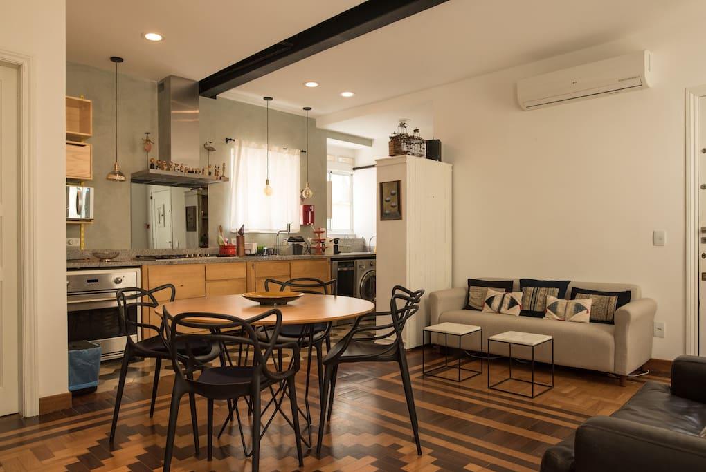 Sala/cozinha vista dos quartos