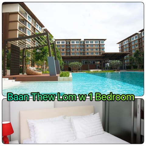 1Bedroom ,Baan Thew Lom ,Sea100m - Cha-am - Pis