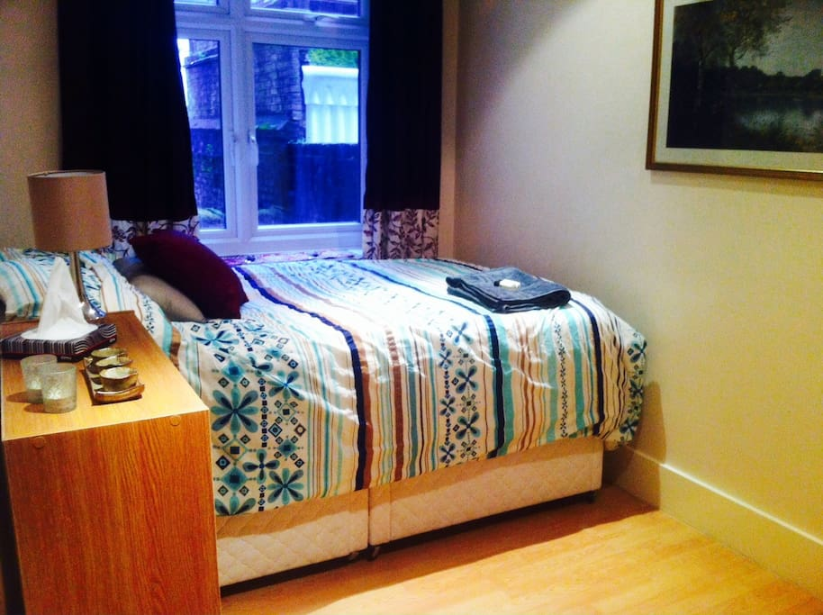 Your bedroom with double bed (current bed!)