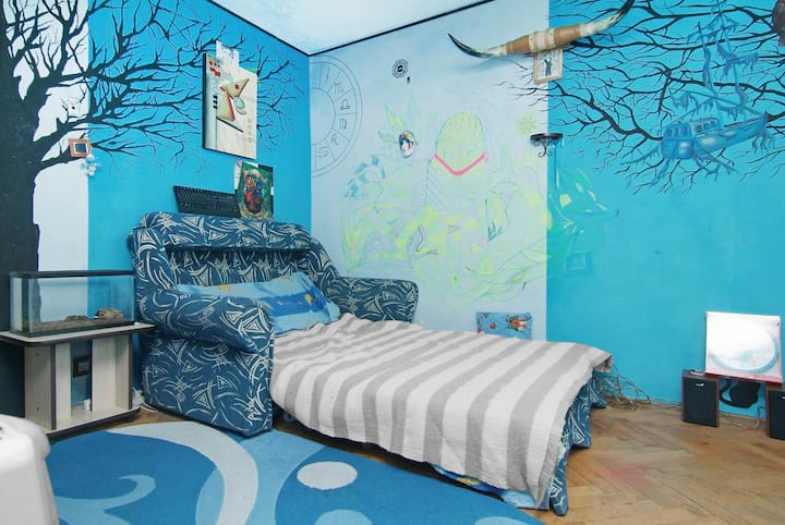 Simple bedroom in Bucharest