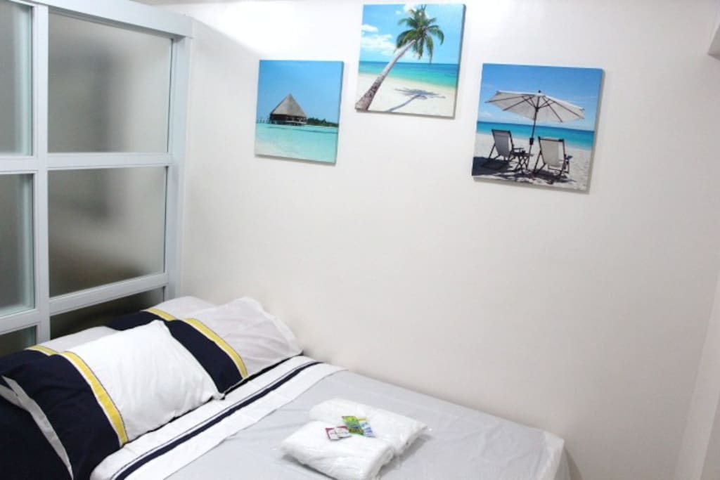 Rest and relax to our airconditioned room. 48x78 bed with pullout bed of 36x78.