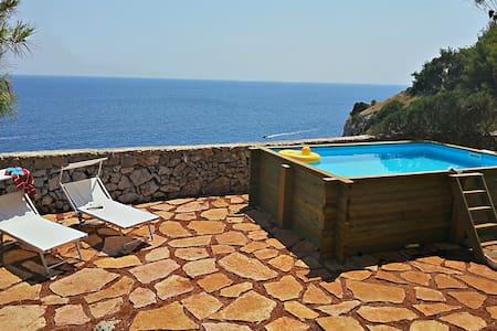Stunning cliff villa, pool, 12-18p  - Castro - Villa