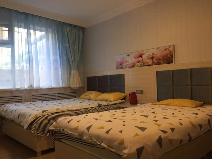 豆芽家庭公寓空调房A