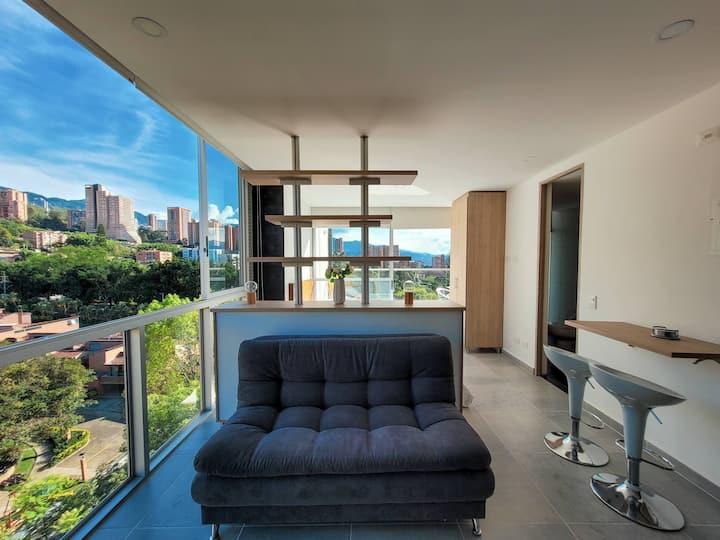 Wonderful view, comfortable and modern loft.