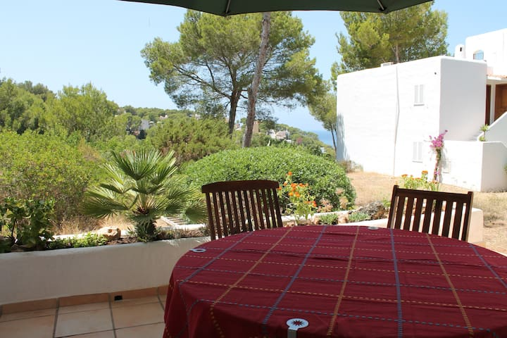 Wonderful big apartment with sea view and terrace - Cala Vedella