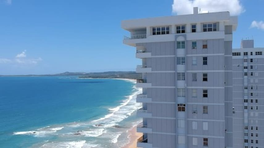 Beautiful beach view apartment in Luquillo, PR.