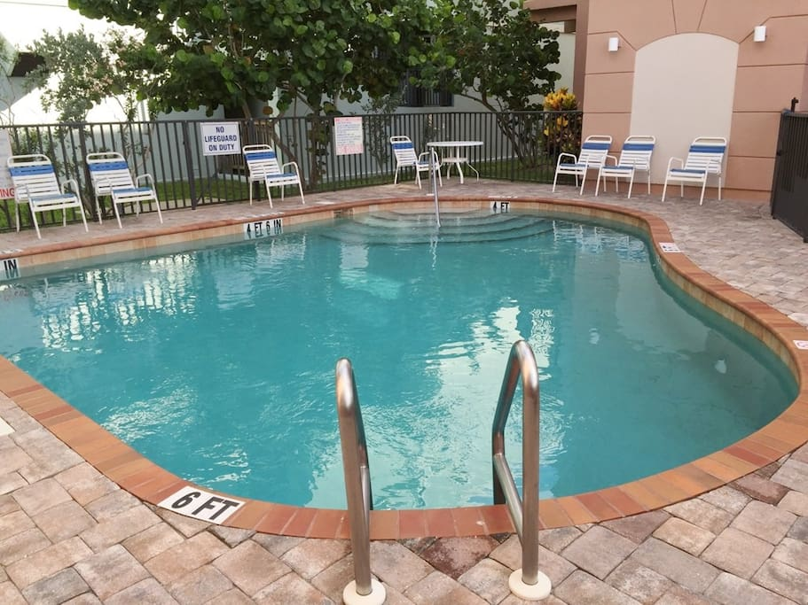 Private community heated pool