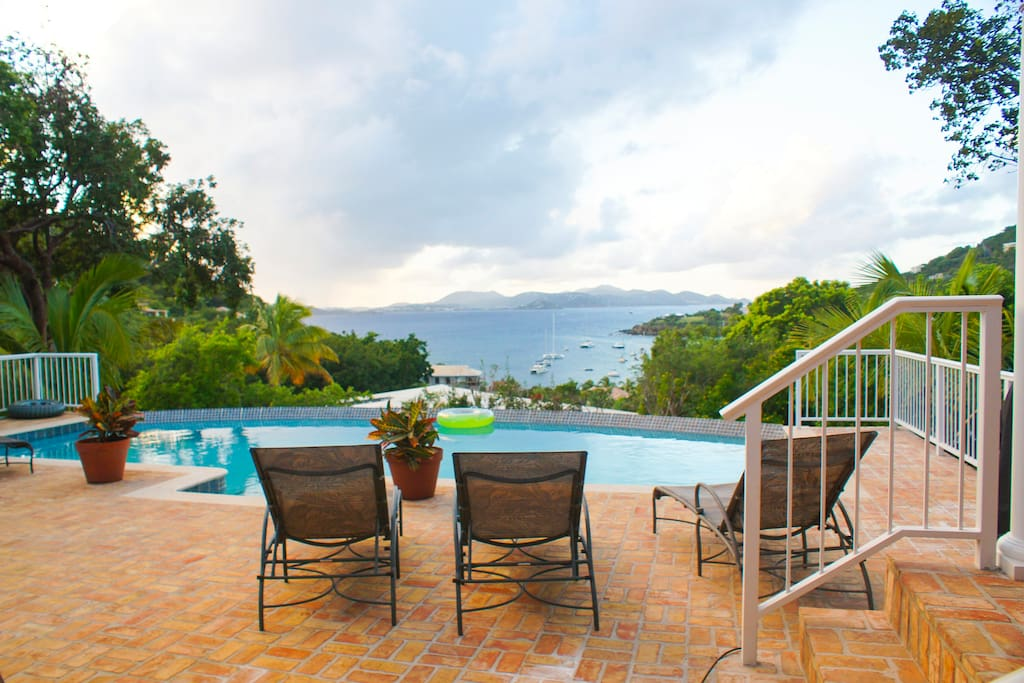 Beautiful views of St. Thomas from your private pool and deck