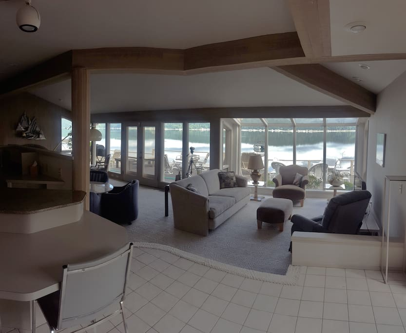 Spacious living room with panoramic views